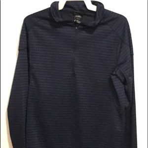 CB size large blue striped pull over junior
